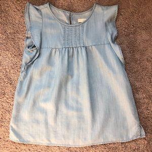 Ann Taylor LOFT chambray sleeveless top size XS